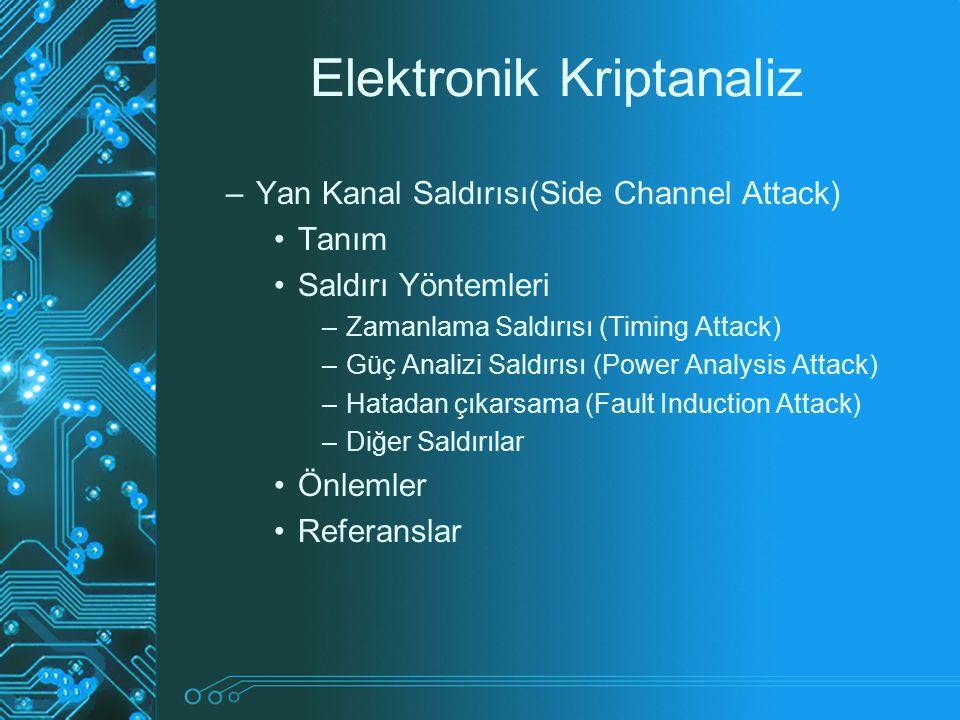 Elektronik Kriptanaliz
