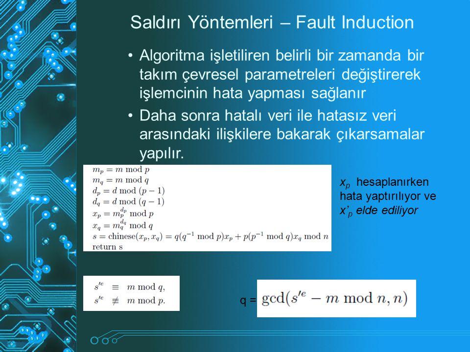 Saldırı Yöntemleri – Fault Induction