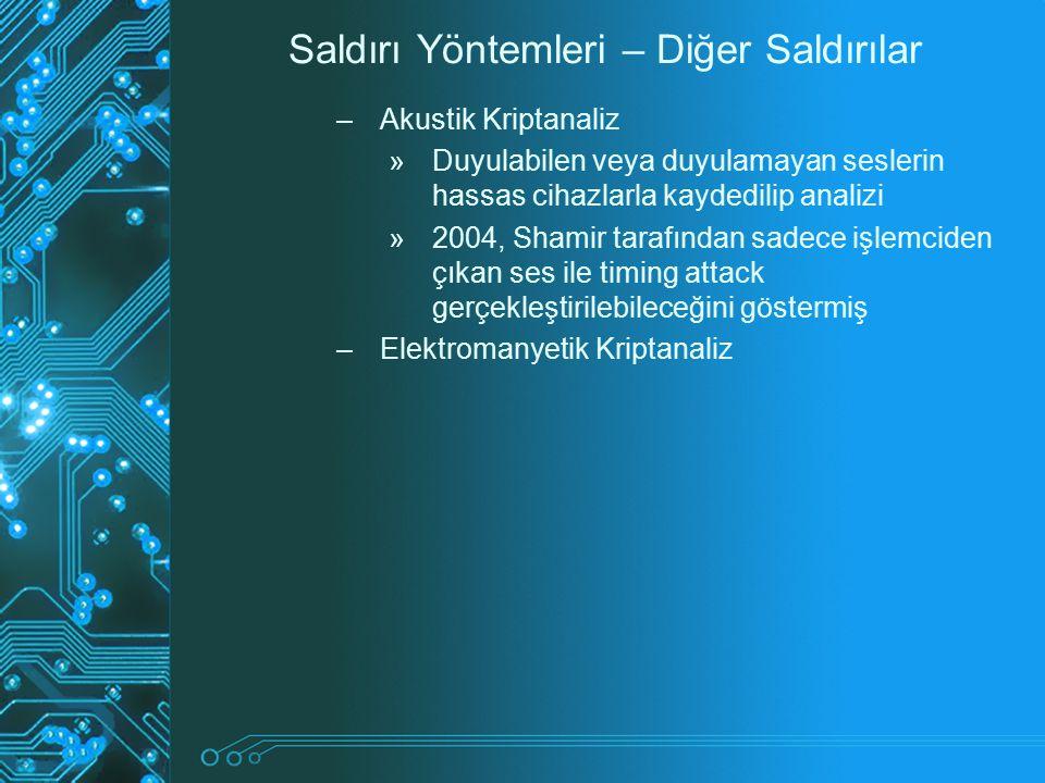Saldırı Yöntemleri – Diğer Saldırılar