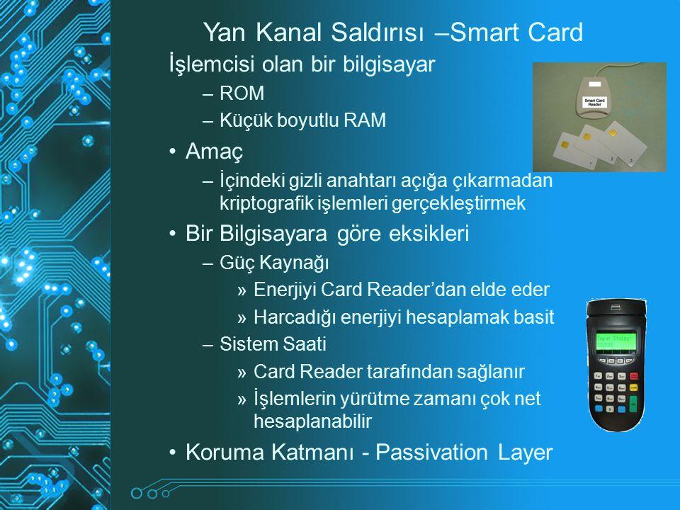 Yan Kanal Saldırısı –Smart Card