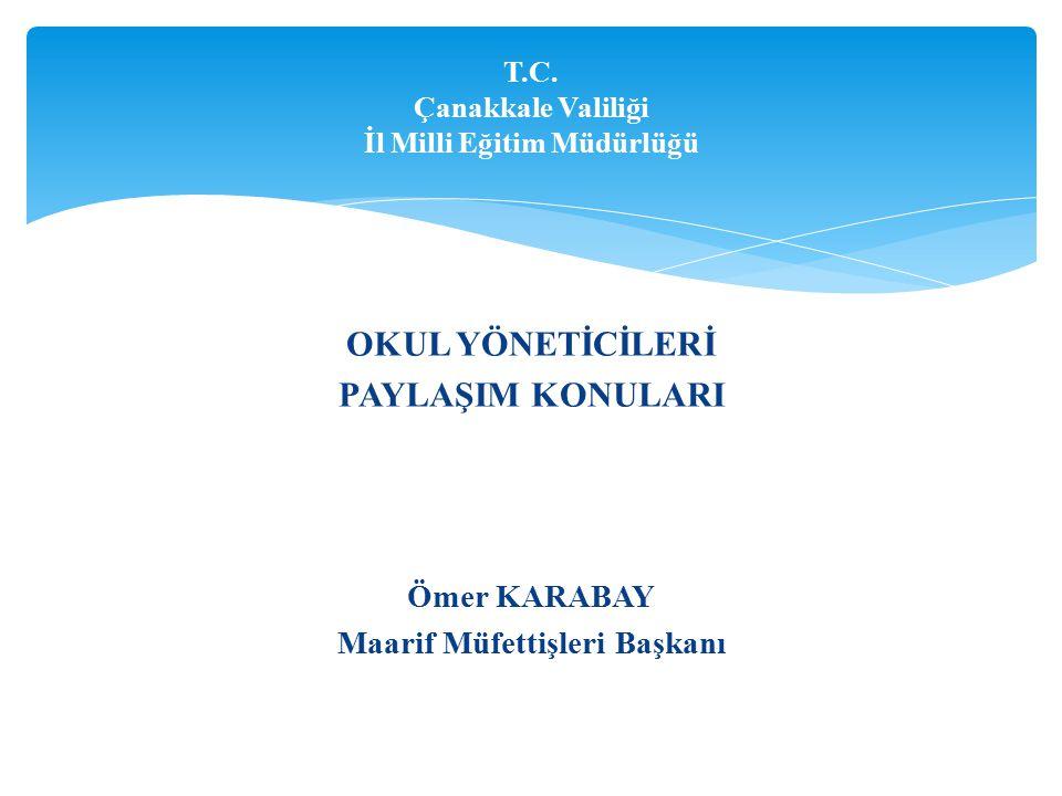 T.C. Çanakkale Valiliği İl Milli Eğitim Müdürlüğü