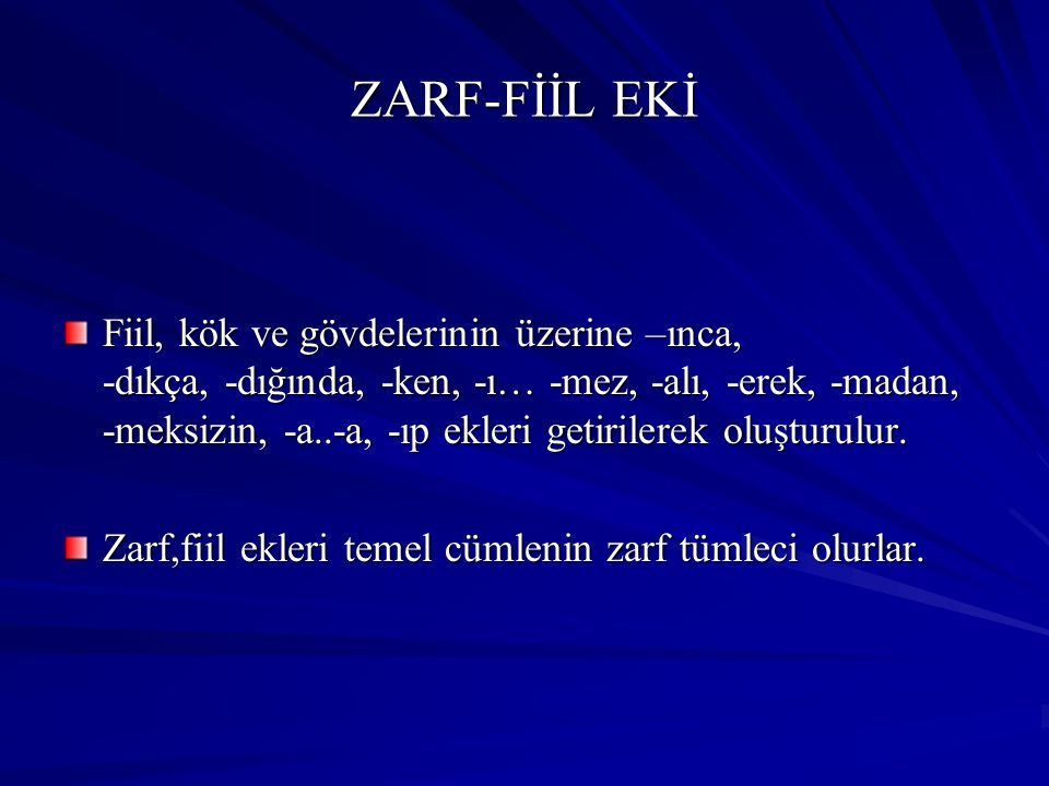 ZARF-FİİL EKİ