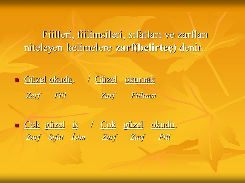 Zarf Fiil Zarf Fiilimsi