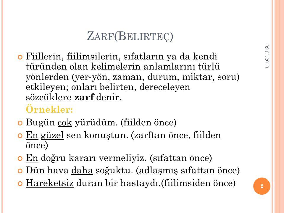 Zarf(Belirteç) 09.01.2013.
