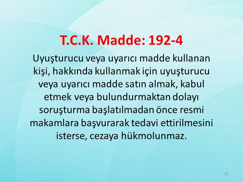 T.C.K. Madde: 192-4