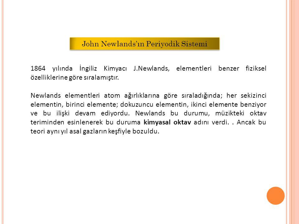 John Newlands'ın Periyodik Sistemi