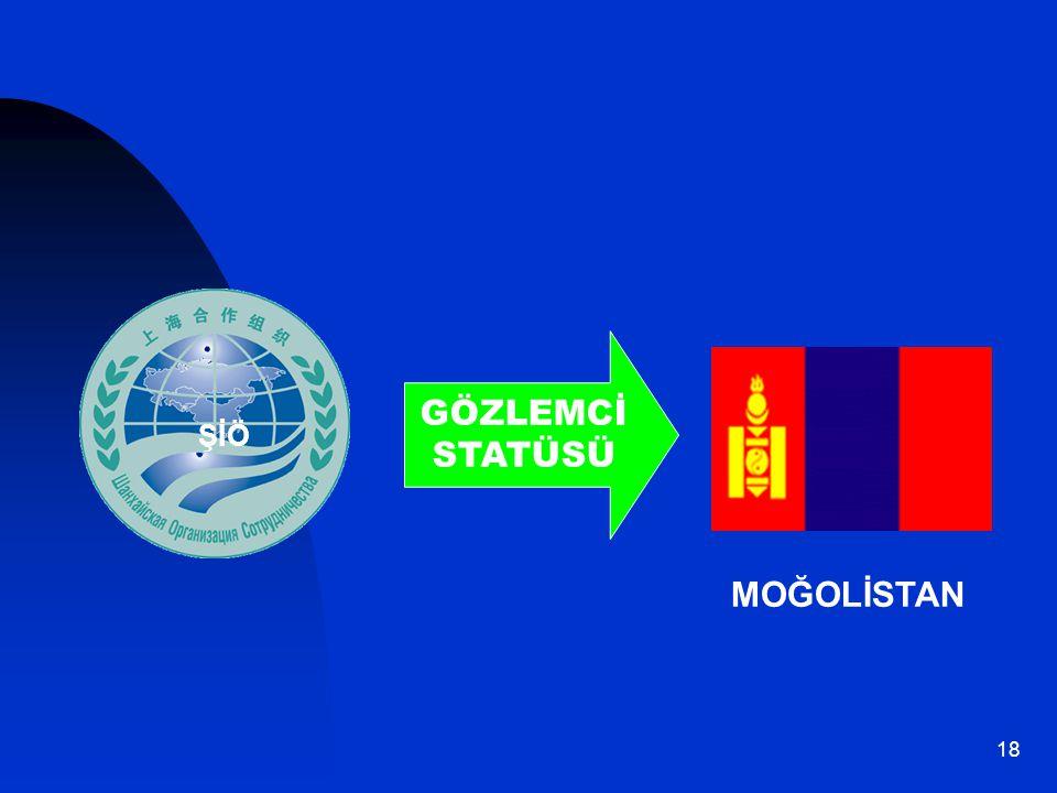 GÖZLEMCİ STATÜSÜ ŞİÖ Moğolistan MOĞOLİSTAN