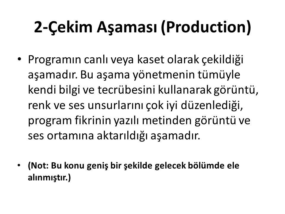 2-Çekim Aşaması (Production)
