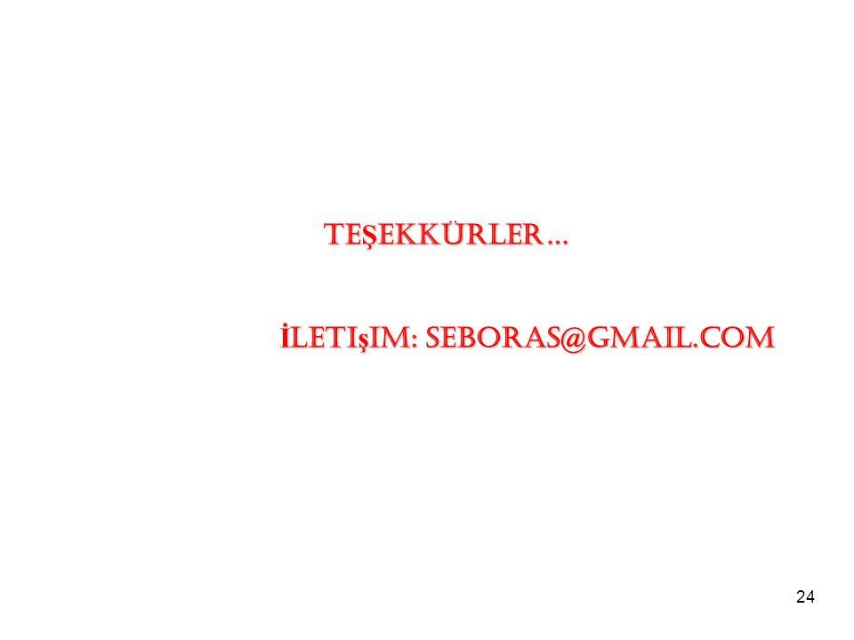 TEŞEKKÜRLER… İletişim: seboras@gmail.com