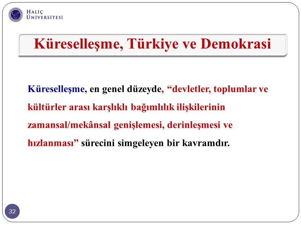Küreselleşme, Türkiye ve Demokrasi