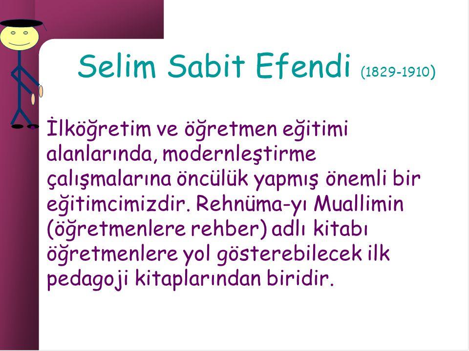 Selim Sabit Efendi (1829-1910)