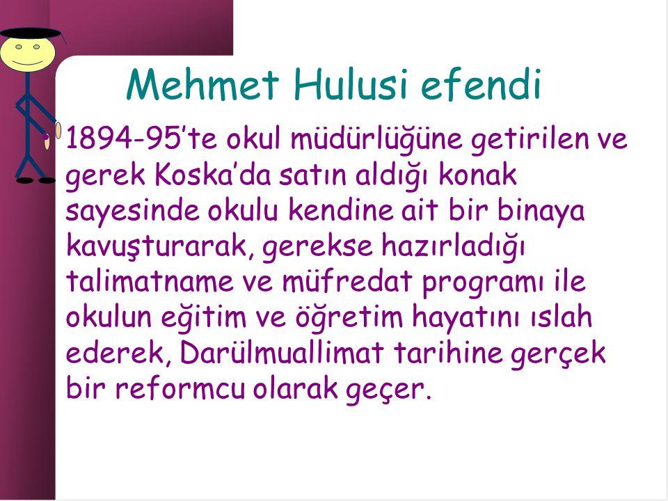 Mehmet Hulusi efendi