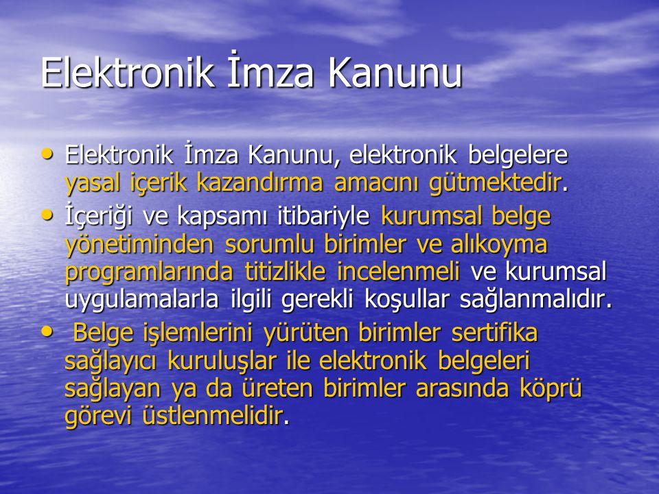 Elektronik İmza Kanunu