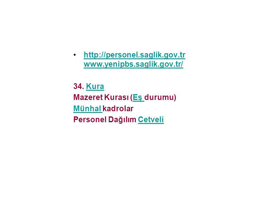 http://personel.saglik.gov.tr www.yenipbs.saglik.gov.tr/
