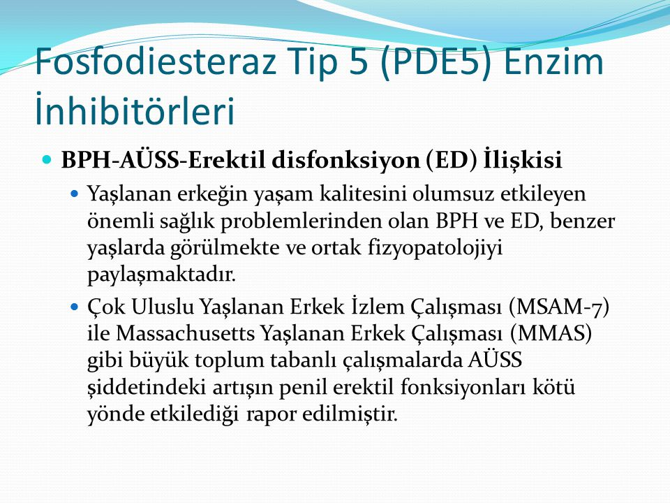 Fosfodiesteraz Tip 5 (PDE5) Enzim İnhibitörleri
