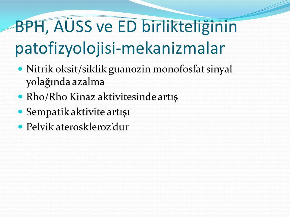 BPH, AÜSS ve ED birlikteliğinin patofizyolojisi-mekanizmalar