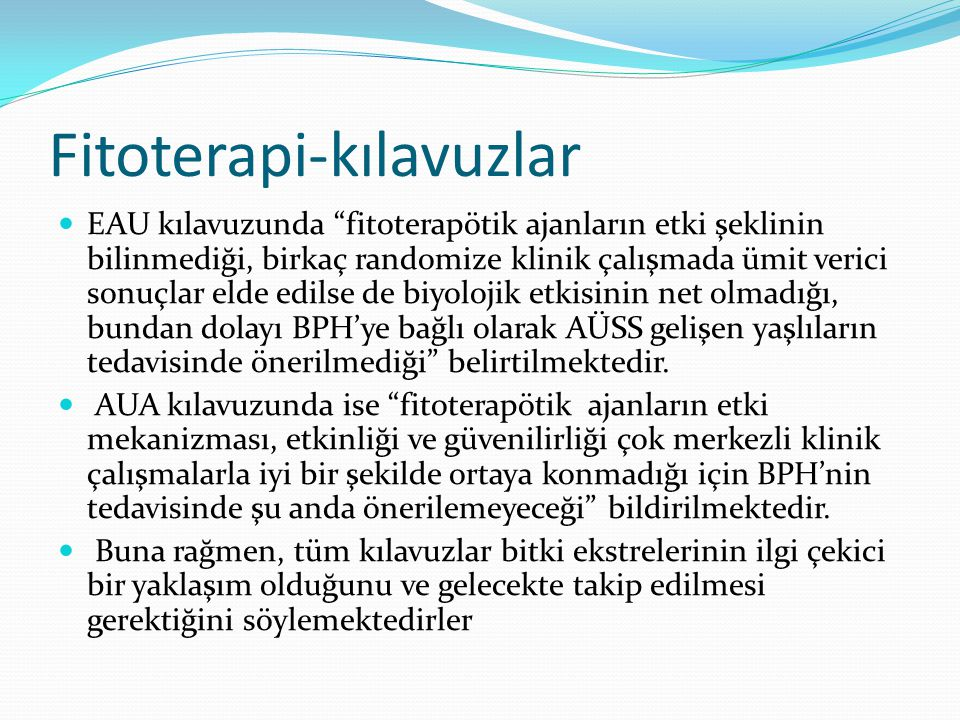 Fitoterapi-kılavuzlar