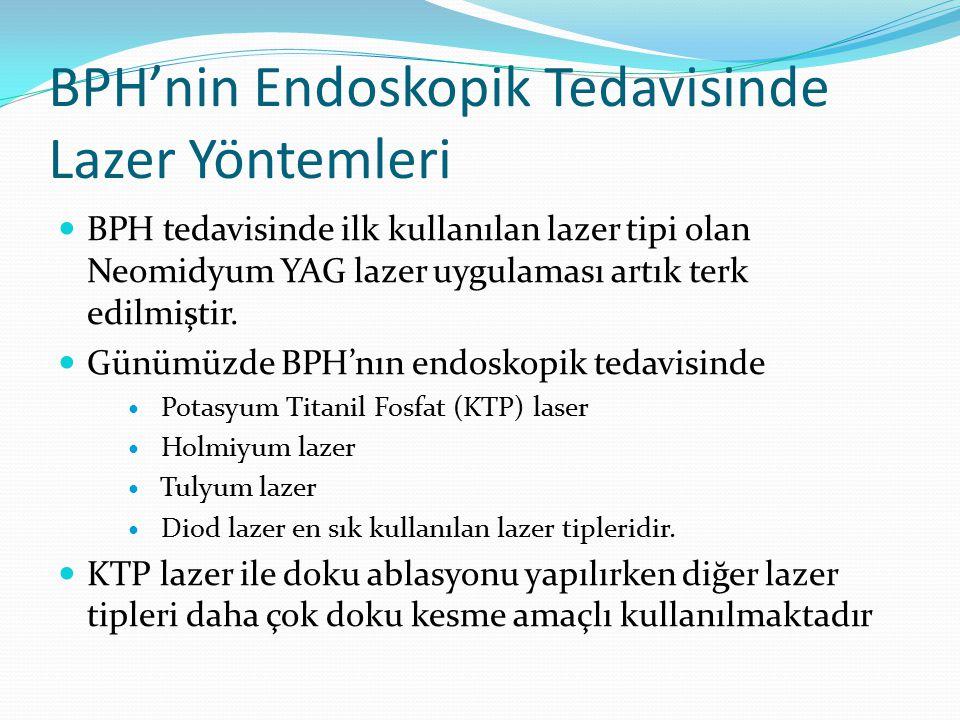 BPH'nin Endoskopik Tedavisinde Lazer Yöntemleri