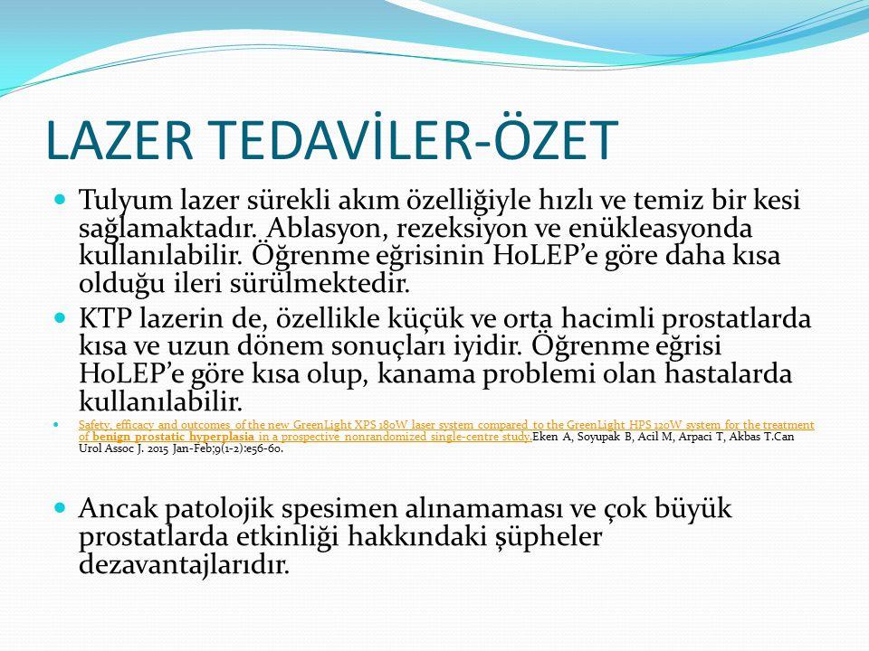 LAZER TEDAVİLER-ÖZET