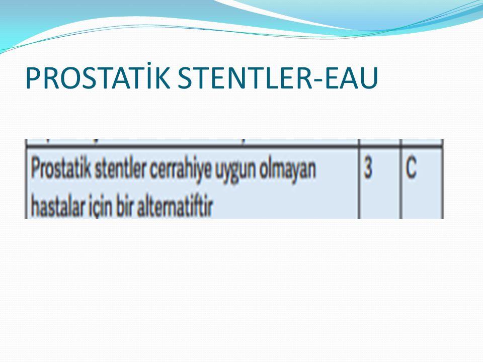 PROSTATİK STENTLER-EAU