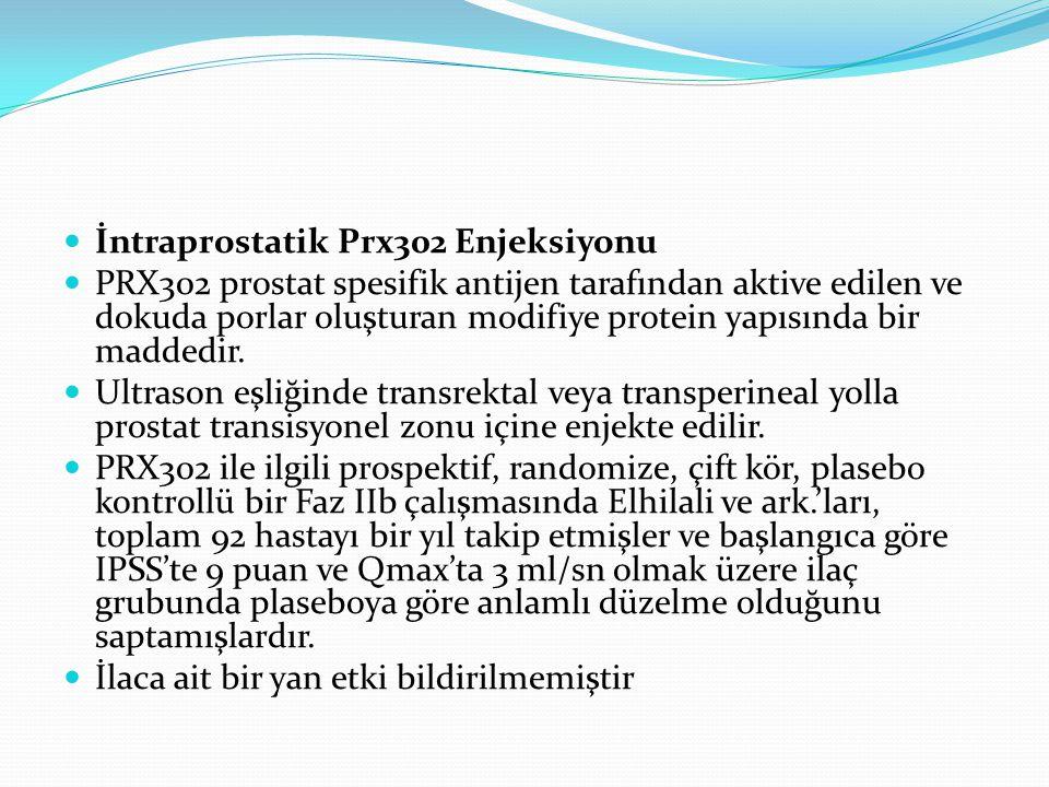 İntraprostatik Prx302 Enjeksiyonu