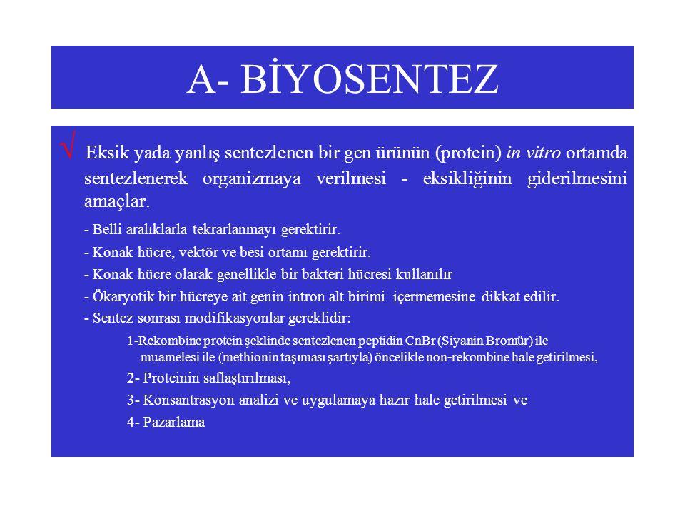 A- BİYOSENTEZ