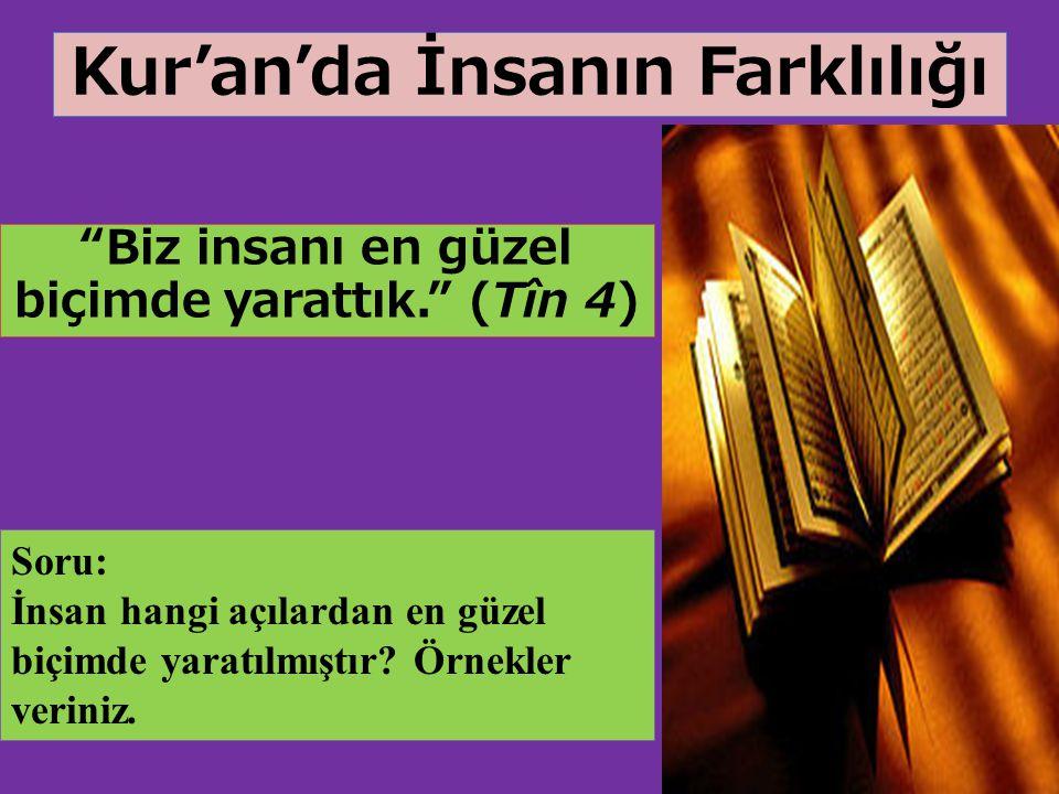 Kur'an'da İnsanın Farklılığı