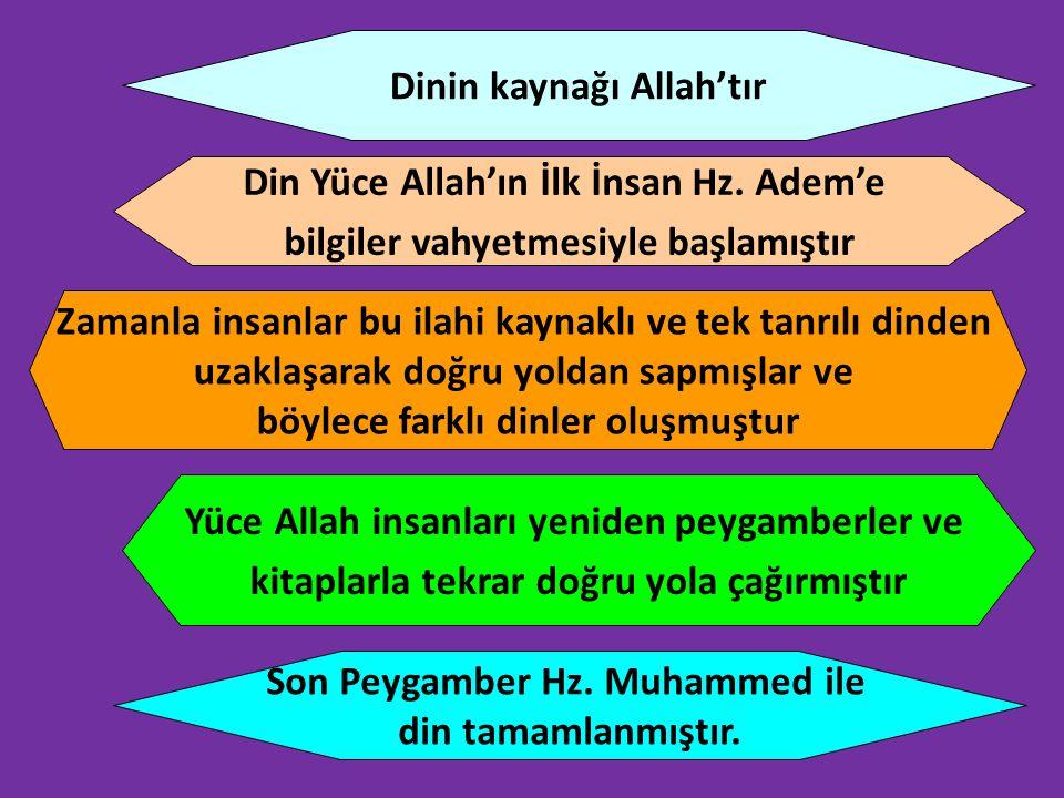 Dinin kaynağı Allah'tır