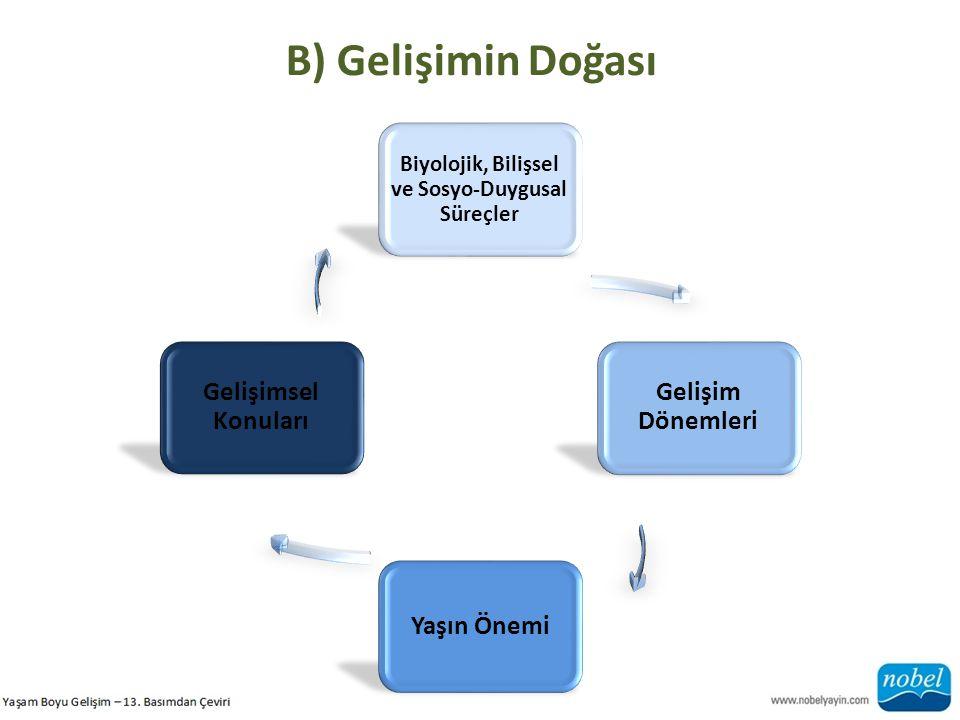 Biyolojik, Bilişsel ve Sosyo-Duygusal Süreçler