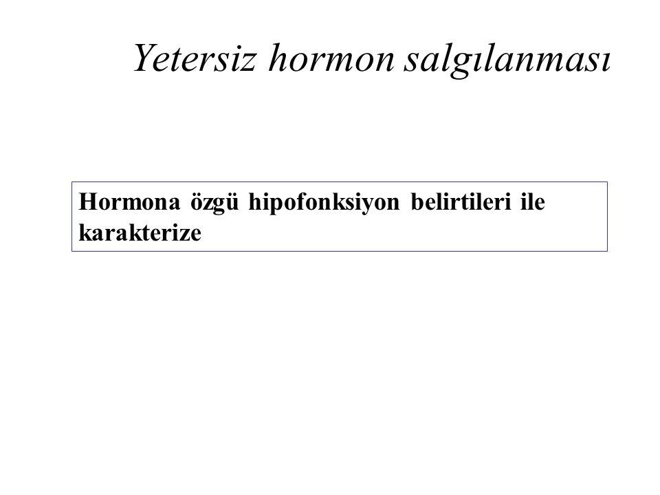 Yetersiz hormon salgılanması