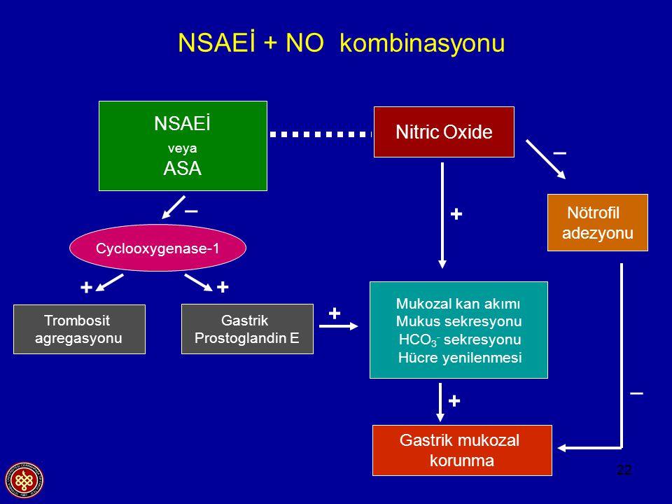 NSAEİ + NO kombinasyonu