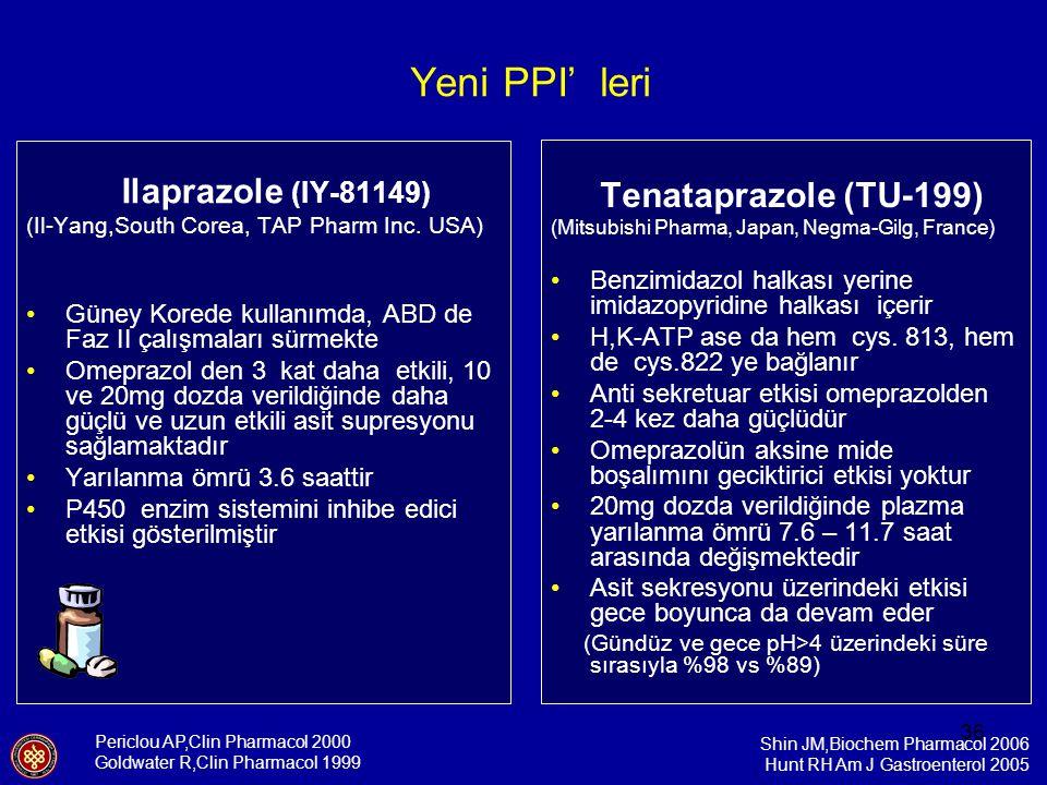 Yeni PPI' leri Tenataprazole (TU-199)