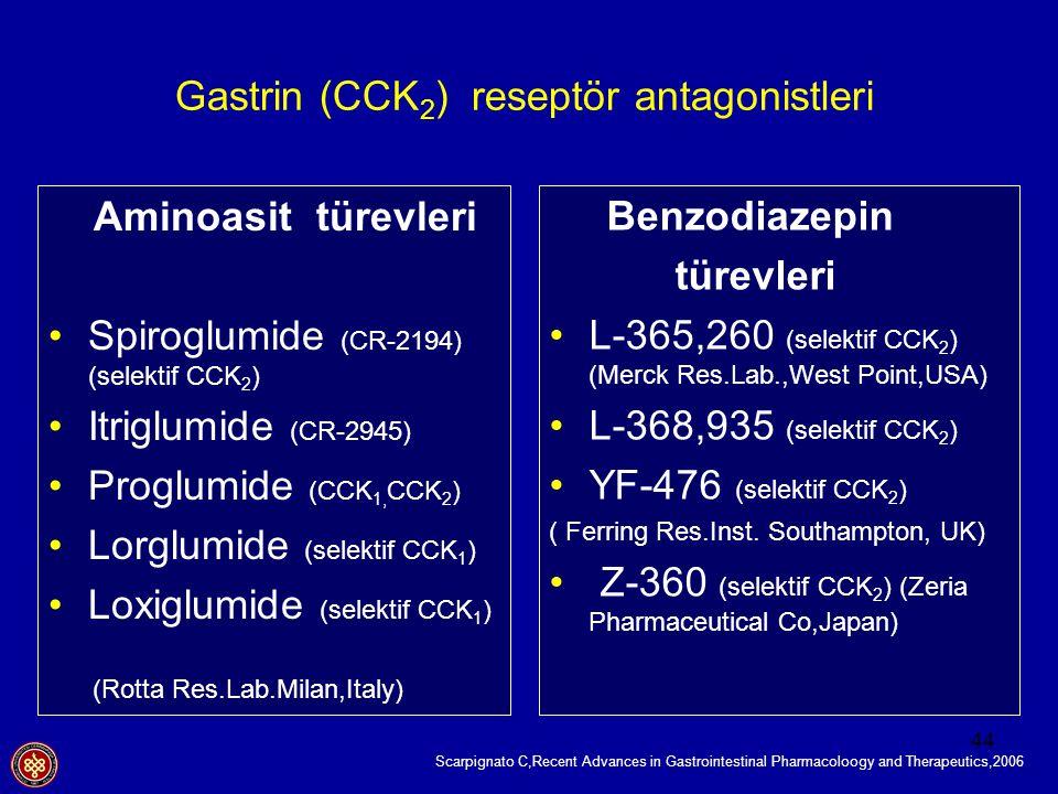 Gastrin (CCK2) reseptör antagonistleri