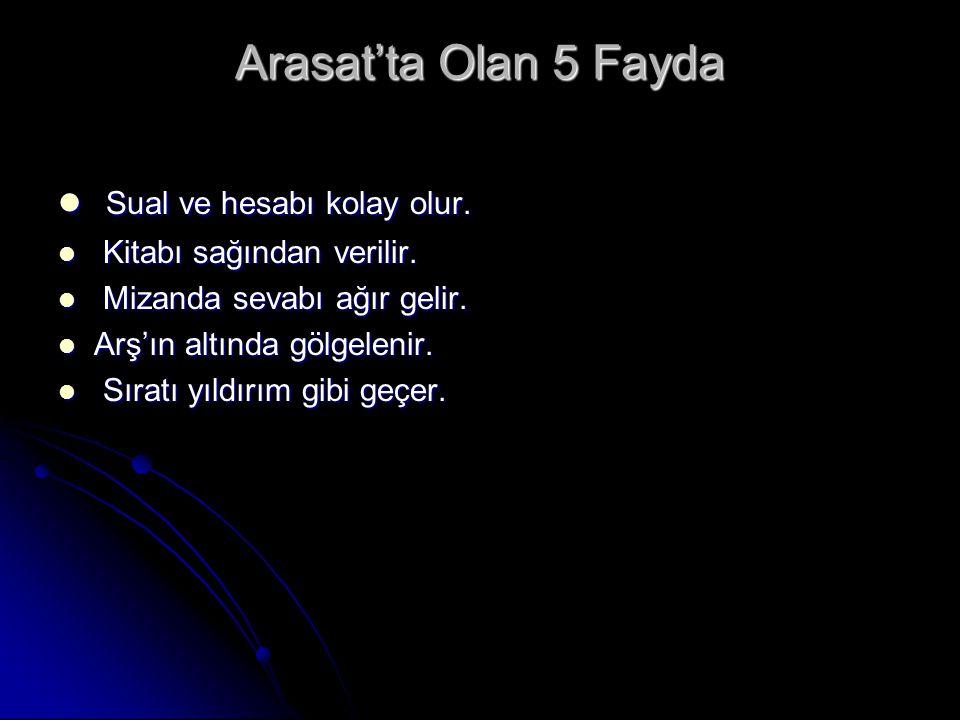 Arasat'ta Olan 5 Fayda Sual ve hesabı kolay olur.