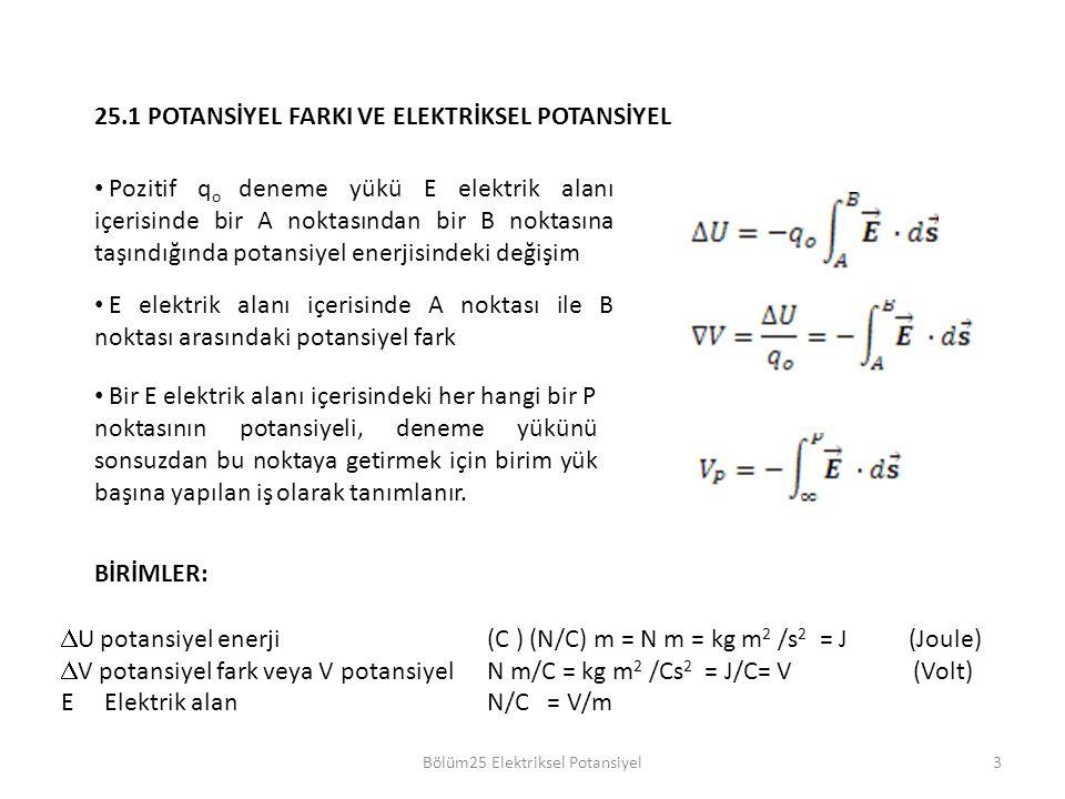Bölüm25 Elektriksel Potansiyel