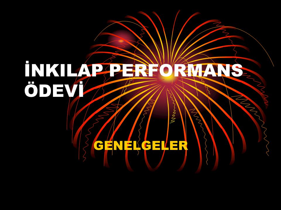 İNKILAP PERFORMANS ÖDEVİ