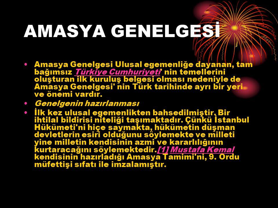 AMASYA GENELGESİ