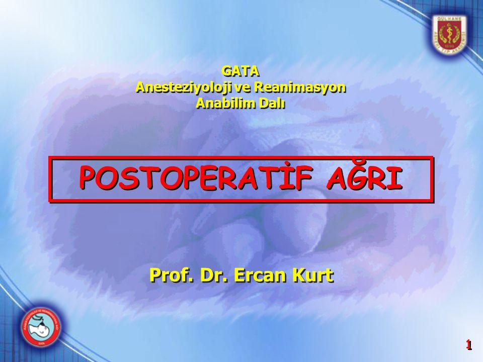 GATA Anesteziyoloji ve Reanimasyon Anabilim Dalı