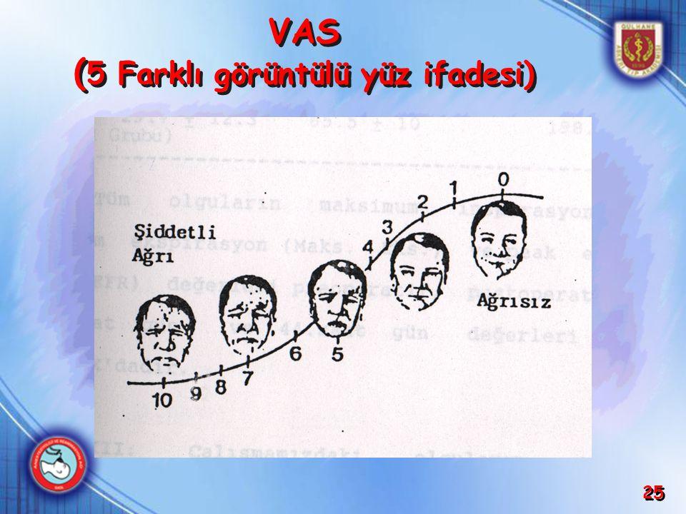 VAS (5 Farklı görüntülü yüz ifadesi)