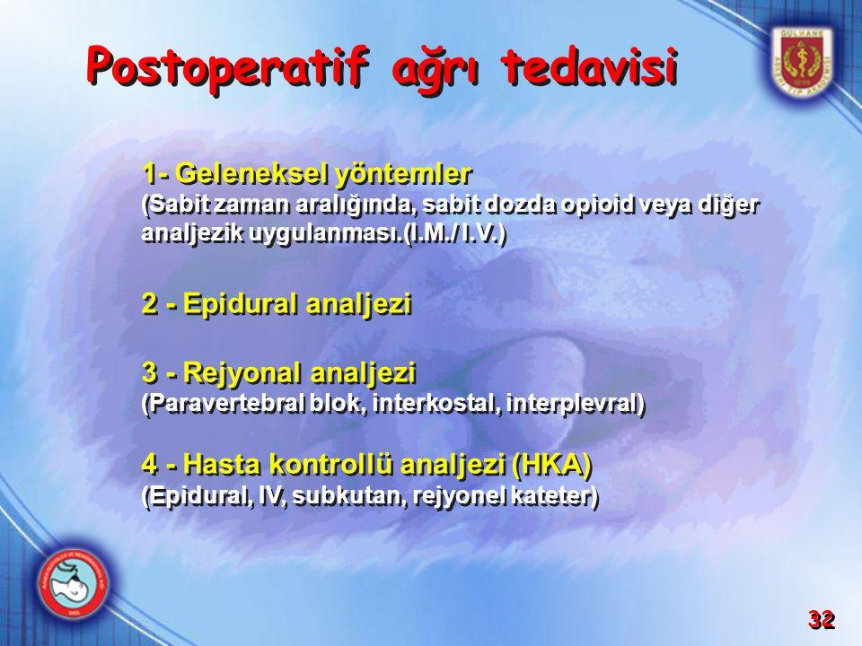 Postoperatif ağrı tedavisi