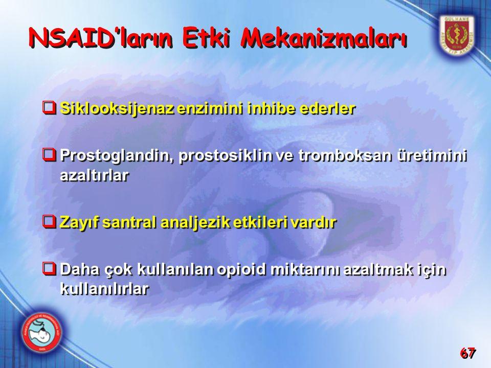 NSAID'ların Etki Mekanizmaları