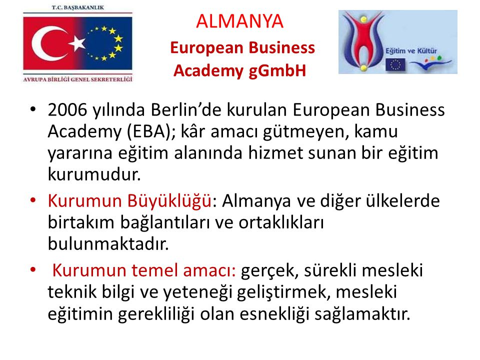 ALMANYA European Business Academy gGmbH
