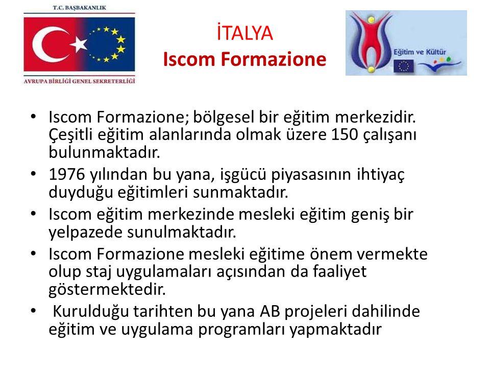 İTALYA Iscom Formazione