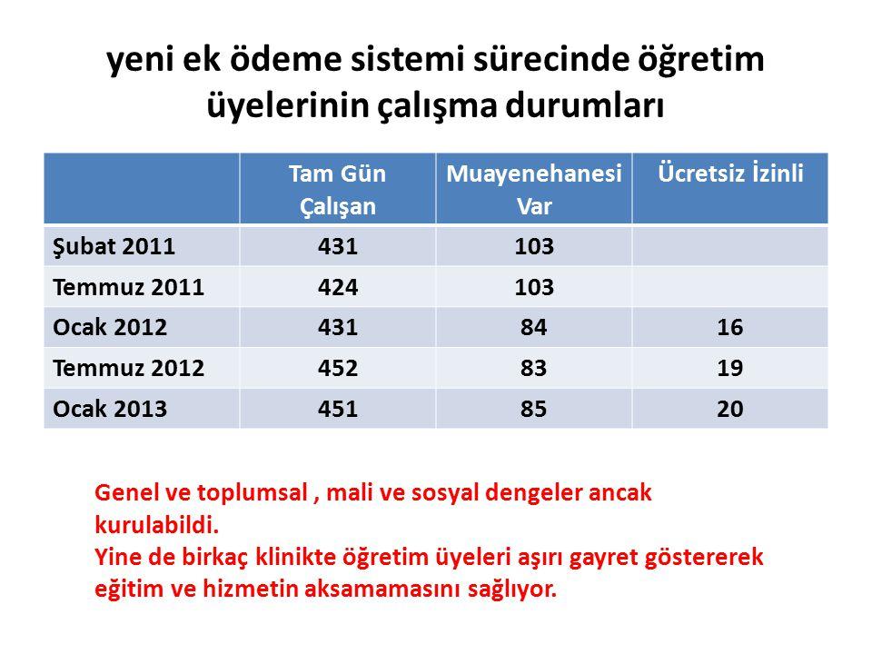 yeni ek ödeme sistemi sürecinde öğretim üyelerinin çalışma durumları