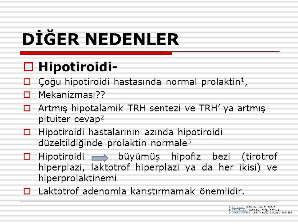 DİĞER NEDENLER Hipotiroidi-