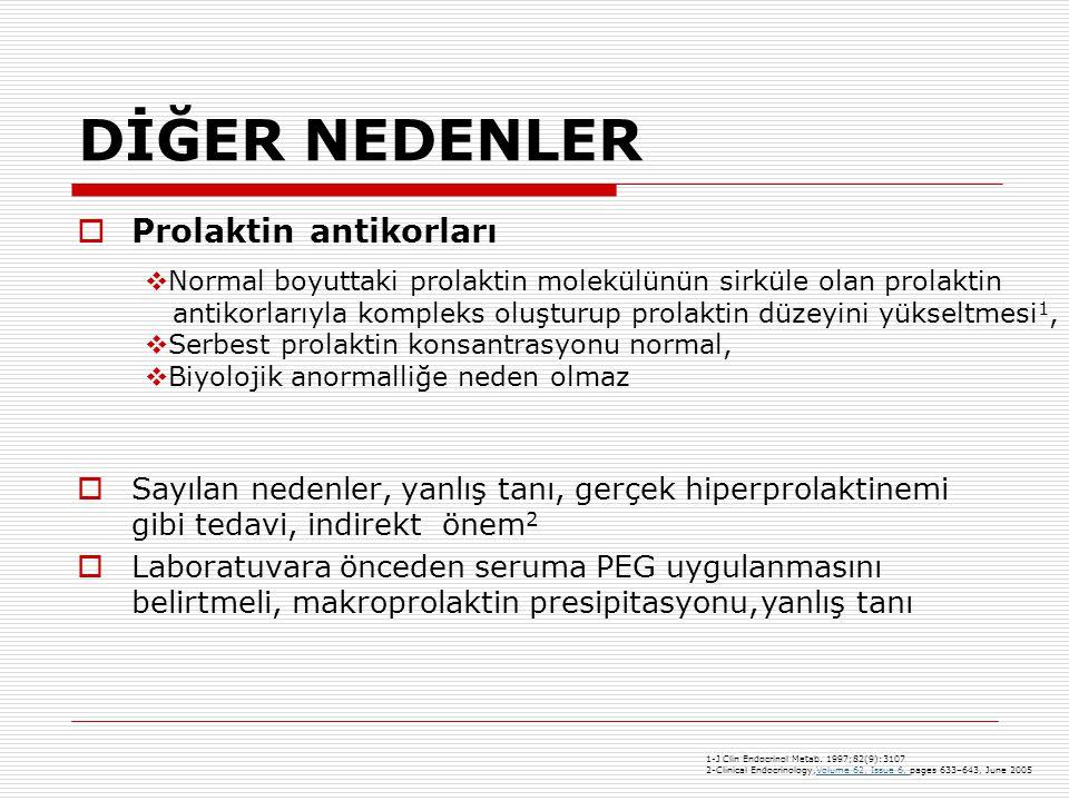 DİĞER NEDENLER Prolaktin antikorları