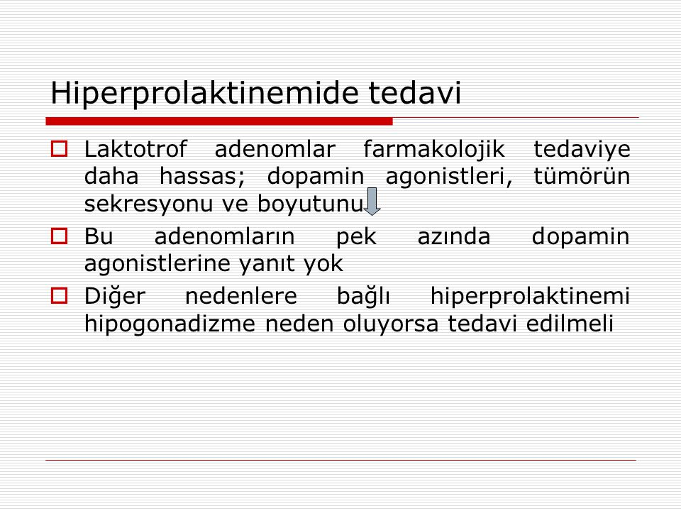Hiperprolaktinemide tedavi