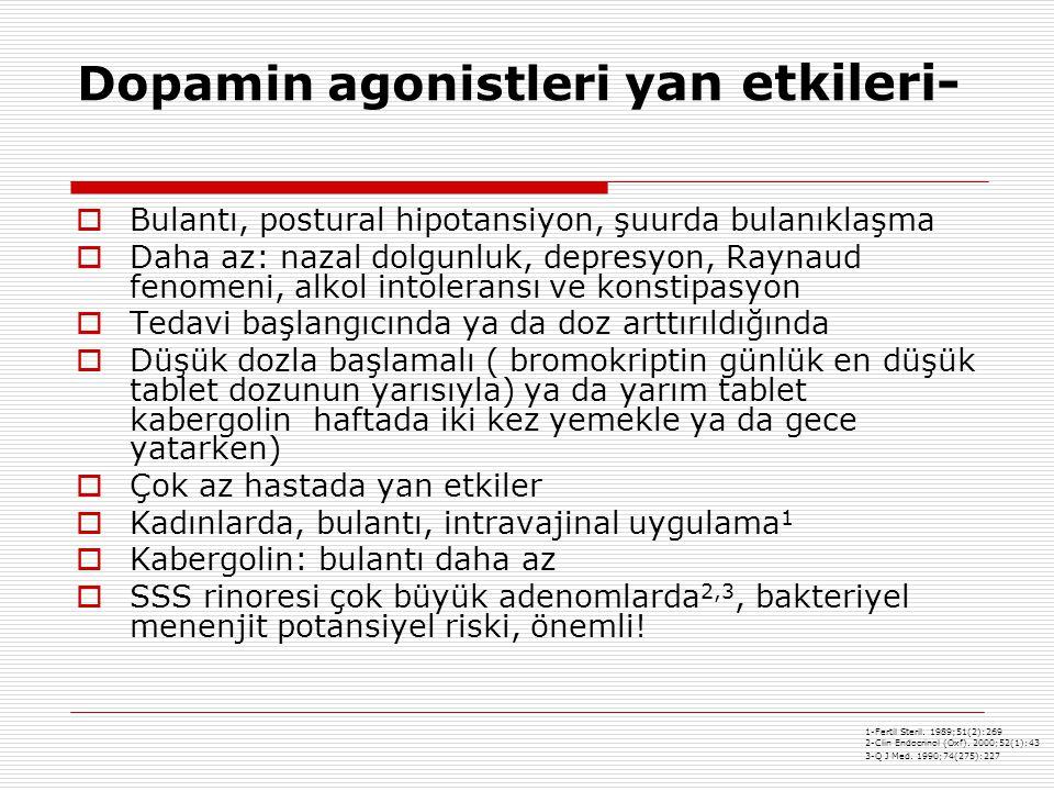 Dopamin agonistleri yan etkileri-