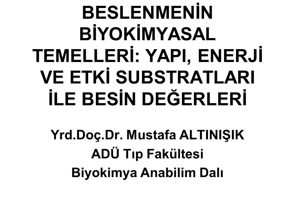 Yrd.Doç.Dr. Mustafa ALTINIŞIK Biyokimya Anabilim Dalı