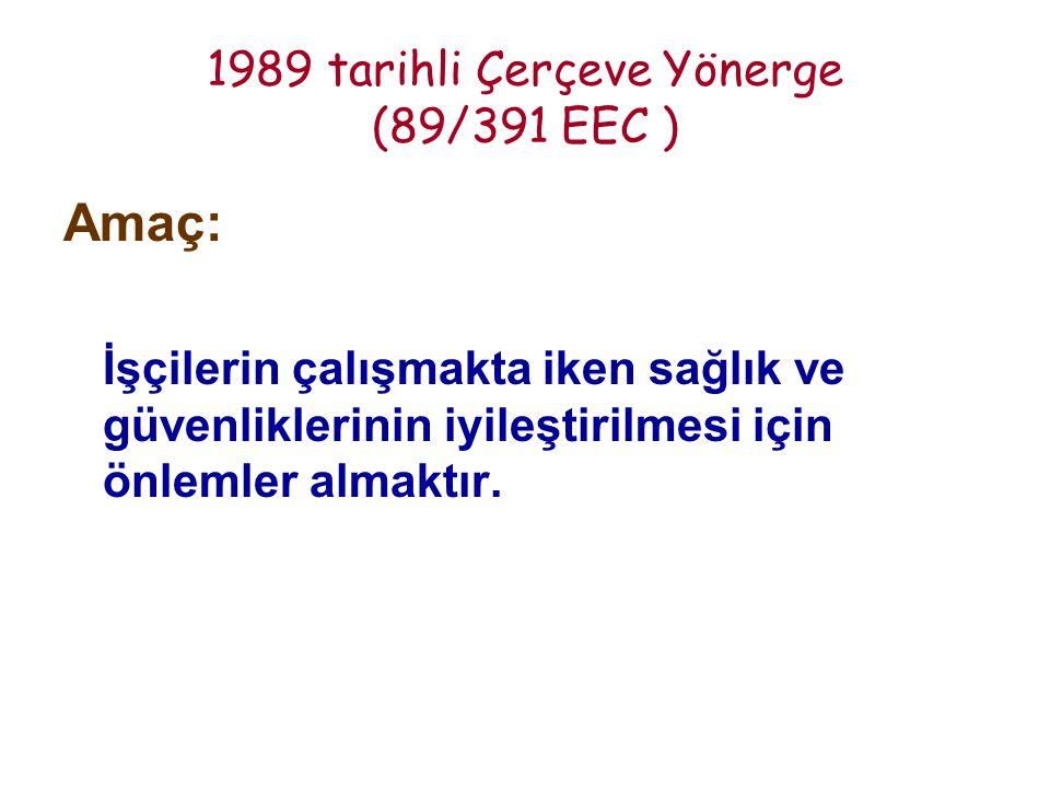1989 tarihli Çerçeve Yönerge (89/391 EEC )